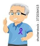 illustration of a senior... | Shutterstock .eps vector #372036415