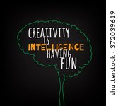 creativity is intelligence... | Shutterstock .eps vector #372039619