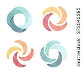 quadrocopter logo. vector logos.... | Shutterstock .eps vector #372042385