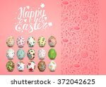 Set Of Easter Vector Seamless...