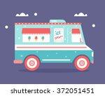 ice cream truck flat...   Shutterstock .eps vector #372051451