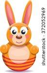 toy bunny cartoon  vector ... | Shutterstock .eps vector #372052969
