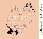 spring is coming lettering on...   Shutterstock .eps vector #372056575