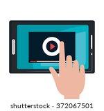 tv live stream | Shutterstock .eps vector #372067501