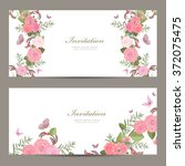 collection invitation cards... | Shutterstock .eps vector #372075475