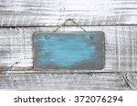 Blank Wood Teal Blue Sign...