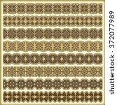 vintage border set for design  | Shutterstock .eps vector #372077989