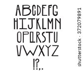 comic hand drawn font | Shutterstock .eps vector #372079891
