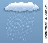 Rain Cloud Vector Blue...