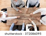 close up of business team...   Shutterstock . vector #372086095