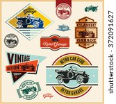 vintage labels  vintage car... | Shutterstock .eps vector #372091627