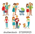 vector set of people with... | Shutterstock .eps vector #372093925
