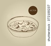 vector hand drawn food sketch...   Shutterstock .eps vector #372100237