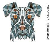 Schnauzer Dog Head Zentangle...