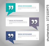 set of banners with a quote... | Shutterstock .eps vector #372103975