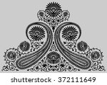 paisley indian beautiful motif | Shutterstock .eps vector #372111649