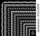 vector set of corner borders... | Shutterstock .eps vector #372115999
