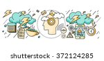 diagnosis of brain psychology... | Shutterstock .eps vector #372124285