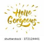 modern calligraphy... | Shutterstock .eps vector #372124441