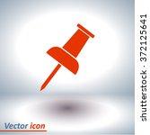 push pin icon. vector eps 10.