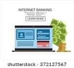 internet banking. flat vector... | Shutterstock .eps vector #372127567