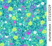 little floral print   seamless... | Shutterstock .eps vector #372135229