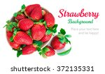 strawberry berry with green... | Shutterstock . vector #372135331