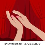 woman hands clapping and... | Shutterstock .eps vector #372136879