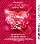 happy valentines day party... | Shutterstock .eps vector #372146971