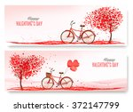 valentine's day banners with a... | Shutterstock .eps vector #372147799