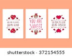 set of saint valentines day... | Shutterstock .eps vector #372154555
