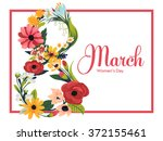 beautiful 8 march women's day... | Shutterstock .eps vector #372155461