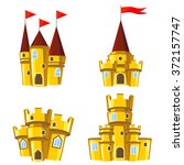 set of four editable gold... | Shutterstock .eps vector #372157747