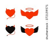 vector illustration angel and... | Shutterstock .eps vector #372159571