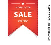 sale and buy now ribbon red... | Shutterstock .eps vector #372163291