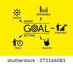 smart goal setting. chart with... | Shutterstock .eps vector #372166081