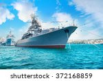 Military Navy Ship In The Bay....