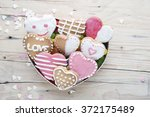 Glazed Cookies On Valentine's...