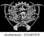 skull steampunk gears in a hat...