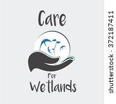 wetlands vector over color... | Shutterstock .eps vector #372187411
