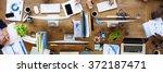 business teamwork communication ...   Shutterstock . vector #372187471
