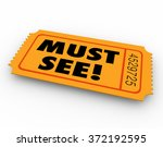 must see words on a ticket to a ...   Shutterstock . vector #372192595