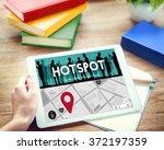 hotspot technology network... | Shutterstock . vector #372197359