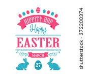 happy easter typographical... | Shutterstock .eps vector #372200374