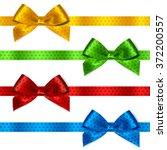 Set Of Shiny Satin Ribbon With...