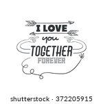 love card design  | Shutterstock .eps vector #372205915