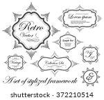 set of vintage frames  vector...   Shutterstock .eps vector #372210514