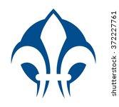 fleur de lis logo vector. | Shutterstock .eps vector #372227761
