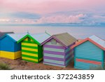 colorful brighton small bathing ... | Shutterstock . vector #372243859