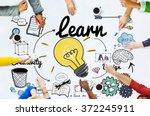 learn learning education... | Shutterstock . vector #372245911
